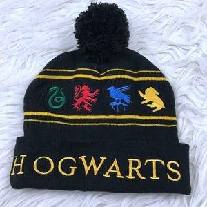 Harry Potter Hogwarts Winter Beanie Hat Adult